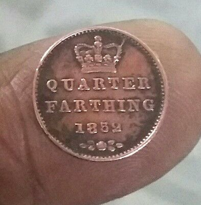 Queen Victoria  Very Old Coin Of Quarter Farthing 1852 Condition Good