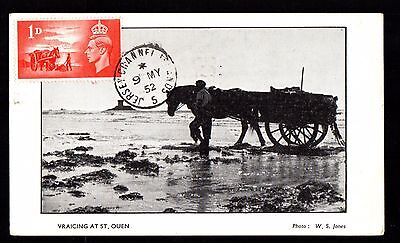 JERSEY Channel Island Maximum card LIBERATION DAY 9 MAY 1952 voyagé verso 2 scan
