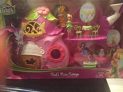 New Disney Fairies Tinks Pixie Cottage Tinker Bell Ultimate Fairy  House Playset