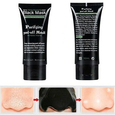 Blackhead Remover  50ml Black Face Mask Deep Cleansing And Purifying Peel-Off