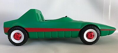 1970 Barbie West Germany DBGM Big Plastic Green Sports Car Sears Exclusive