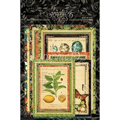 "Graphic45 Nature Sketchbook Ephemera Cards (16) 4""X6"" & (16) 3""X4"" 32 St."