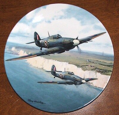 Limited Edition 2518A Hurricane Over The White Cliffs' Royal Doulton Plate