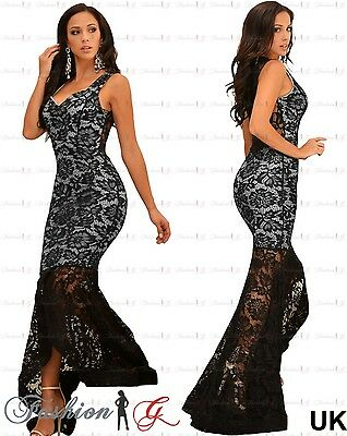 Women Evening Dress Maxi Black Ball Gown Prom Party Formal Long