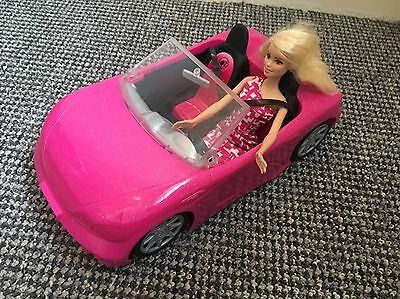 Pink and Black Barbie Car With Barbie MISSING PARTS