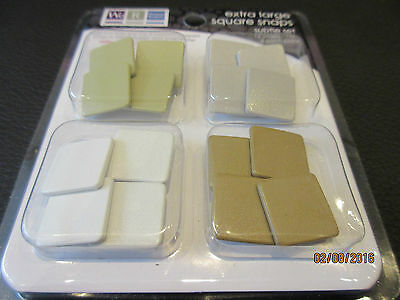 Memory Keepers extra large square snaps 2 packs ('subtle' and 'bubble' sets)