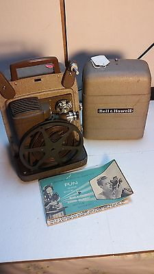 Bell & Howell 8 mm Portable Vintage Movie Projector 253 AX  1950s 198