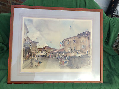 Limited edition print 1956 signed by Sir William  Russell Flint Bastille Day