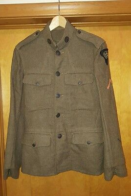 WW1 US Wool Uniform jacket with 83rd army patch, shirt, Pants, and Hat
