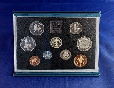 1992 Royal Mint 9 coin Proof Set in case with COA   (L2/11)