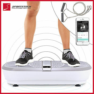 Professional vibration plate VP300 anti-cellulite, pulling straps, remote