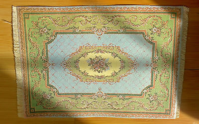 Dollhouse 9.5x6 1/4 Pastel Floral Rug with Fringe
