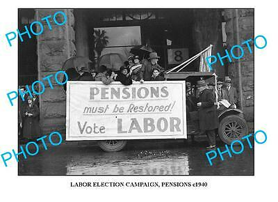 OLD LARGE PHOTO, AUSTRALIAN LABOR PARTY ELECTION c1940