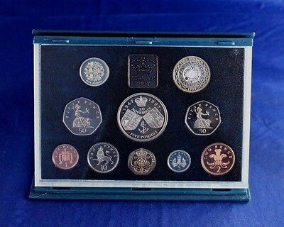 1997 Royal Mint 10 coin Proof Set in case with COA   (L2/16)