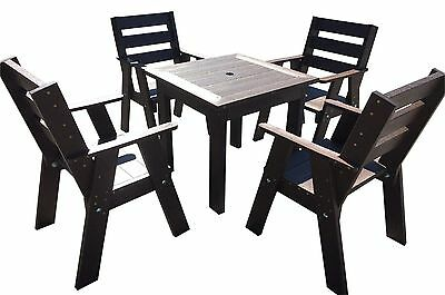 Pub/garden Style Table &  4 Chairs-100% Recycled Plastic-Maintenance Free