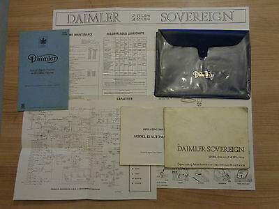 Daimler Sovereign Series 1 2.8 and 4.2 Owners Handbook Manual and Wallet