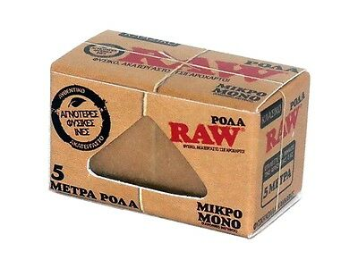 RAW Classic Roll twisted rolling paper single (4cm x 5m) (sample/1/2/6/12/24)pcs