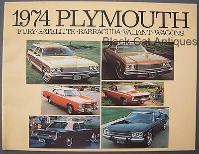 1974 Chrysler Plymouth Fury Satellite Barracuda Valiant Wagons Dealer Brochure