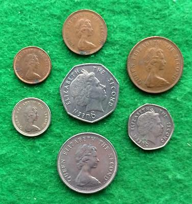 D854 - Selection of coins from the Falkland Islands