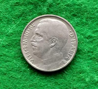 D853 - Italy 50 cents 1919R. Milled edge - rare coin