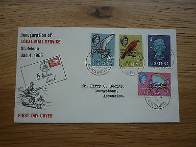 St Helena FDC 1965 Inauguration of the Local Mail service stamps