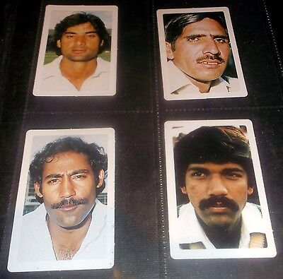4 Pakistan Butter Em Up Cricketer Cards