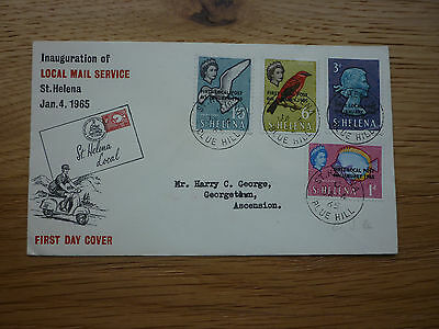 St Helena FDC 1965 Inauguration of the Local Mail service stamps Bluehill