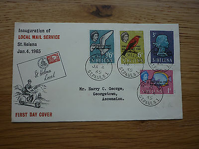 St Helena FDC 1965 Inauguration of the Local Mail service stamps St Pauls 1