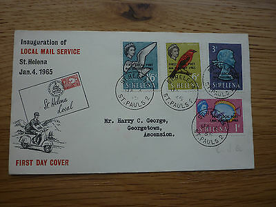 St Helena FDC 1965 Inauguration of the Local Mail service stamps St Pauls 2