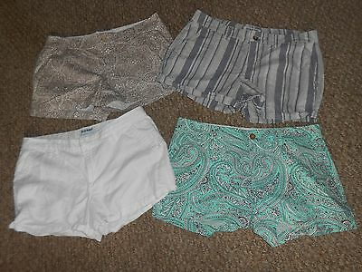 Old Navy 4 Pairs Shorts Lot Sz.8 Solid.paisley Striped