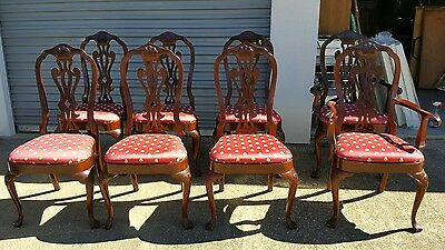 Set of 8 Councill Wood Dining Room Chairs(((LOCAL PICK UP ONLY)))