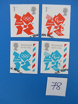 2012 GB Olympic & Paralympic Game Emblems S/A  ex-fdc   #78