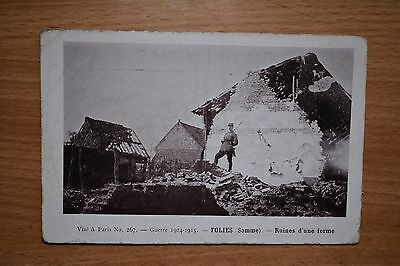 Military WW1 WWI Folies Somme Ruins, French