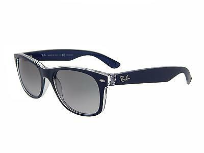 New Ray Ban RB2132 6053M3 Blue+Clear/Polar Grey Gradient Lens 55mm Sunglasses