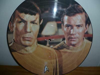 Rare Star Trek The Cage / Where No Man 1986 Sci-Fi Twin Picture Disc Lp Ncpx706