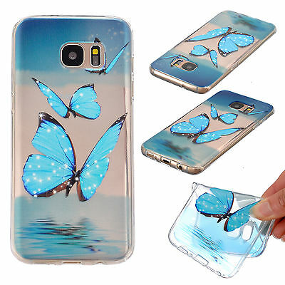 Ultra-thin Soft TPU Silicone Pattern Back Case Cover For Samsung Galaxy S7