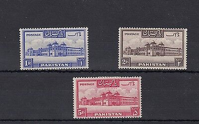 Pakistan.3 --1948 Lightly Mounted Mint Stamps Perf 13 1/2 Cat £56+.on Stockcard