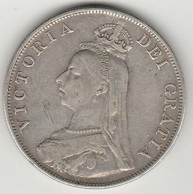 Queen Victoria Double Florin (4 Shillings) Silver (.925) Coin 1887