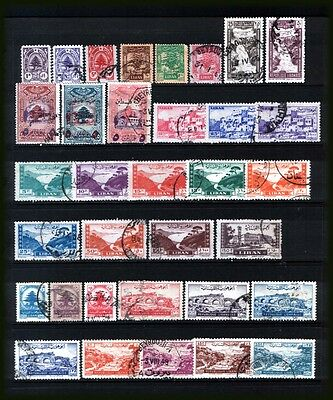 LEBANON 1945-48  :  Nice used lot incl. better values - all different.