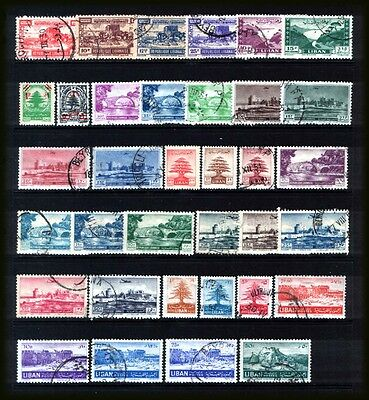 LEBANON 1949-52  : Mostly used selection inc. SG.415 cat.£8  & SG.437 cat. £11.