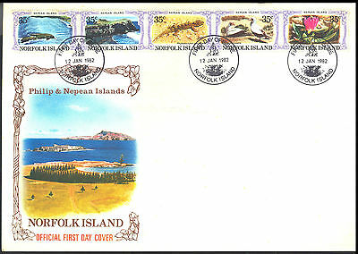 Norfolk Island 1982 Philip & Nepean Islands set of 2 FDC
