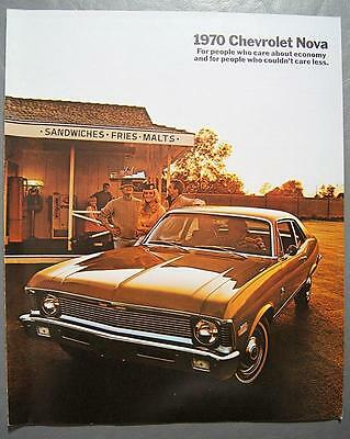 Original 1970 GM Big Chevrolet Nova Coupe & Sedan, Nova SS Coupe Dealer Brochure