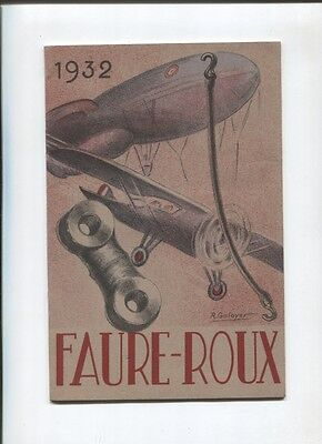 N°5191  /  catalogue technique FAURE-ROUX 1932 service aviation