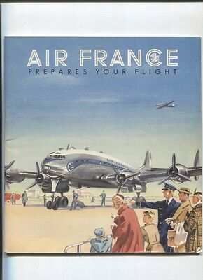 "N°5203  /  AIR FRANCE : ""Prepares your flight"" english text july 1952"