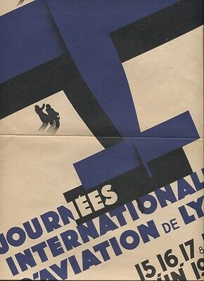 N°5200  /  affichette journées internationales d'aviation de Lyon   juin 1933