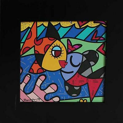 "Romero Britto ""TWO FISH"" offset lithograph on fine art paper Reduced!!"