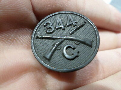 WWI VINTAGE US Army Collar Disc 344th Infantry Regiment Company G 86th Division