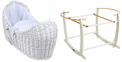 Brand new Clair de lune white noah pod in white dimple with white rocking stand