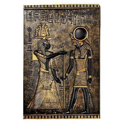 "10"" Regal Horus Falcon God of Ancient Egyptian Relief Wall Plaque Sculpture"