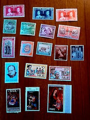 Niue mint Stamps (18) all different - mostly unmounted